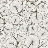 无缝葡萄酒的自行车 免版税库存照片