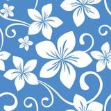 无缝蓝色夏威夷的模式 库存图片