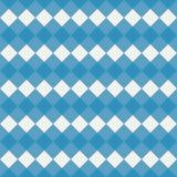 无缝蓝色方格花布的模式 免版税库存图片