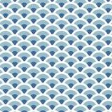 无缝蓝色河的波动图式 库存照片