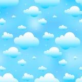 无缝蓝色的云彩 免版税库存图片