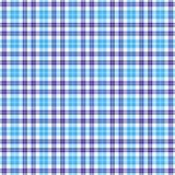 无缝蓝色的格子花呢披肩 向量例证