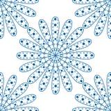无缝蓝色的模式 库存例证