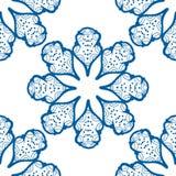 无缝蓝色的模式 向量例证