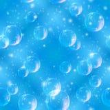 无缝蓝色的泡影 库存照片