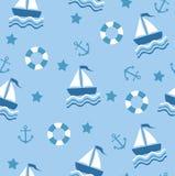 无缝蓝色的海运 向量例证