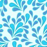 无缝蓝色的花纹花样 免版税库存图片