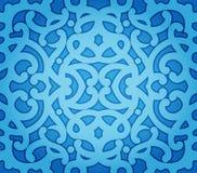 无缝蓝色花卉的模式 库存照片