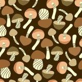 无缝蘑菇的模式 库存图片