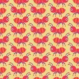 无缝蚂蚁的模式 图库摄影
