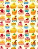 无缝蛋糕的模式 库存照片