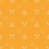 无缝蜂蜜的模式 图库摄影