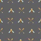 无缝蜂蜜的模式 库存照片