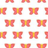 无缝蝴蝶的模式 完善在墙纸、礼物纸、样式积土、网页背景、春天和夏天 皇族释放例证