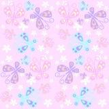 无缝蝴蝶的模式 库存照片