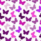 无缝蝴蝶的模式 库存例证
