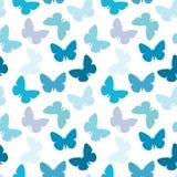 无缝蝴蝶的模式 图库摄影