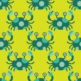 无缝螃蟹的模式 向量例证