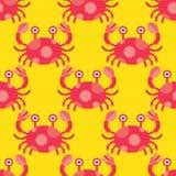 无缝螃蟹的模式 库存例证