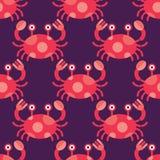 无缝螃蟹的模式 免版税图库摄影