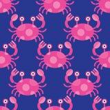 无缝螃蟹的模式 图库摄影