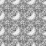 无缝装饰的模式 与马赛克元素的装饰品 库存照片