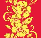 无缝边界夏威夷模式的royale 免版税库存照片
