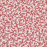 无缝迷宫的模式 图库摄影