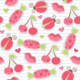 无缝逗人喜爱的模式的粉红色 免版税图库摄影