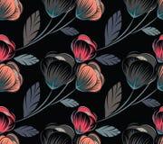 无缝逗人喜爱的花卉的模式 向量例证