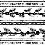无缝部族种族的条纹 黑色白色 向量例证