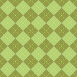 无缝金刚石绿色的模式 库存照片