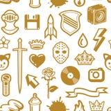 无缝金黄的模式 免版税库存图片