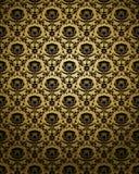 无缝金黄的装饰品 图库摄影