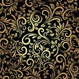 无缝金黄的模式 库存照片