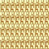 无缝长颈鹿的模式 免版税库存照片