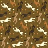 无缝长颈鹿的模式 免版税图库摄影