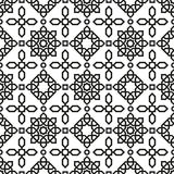无缝阿拉伯的模式 图库摄影