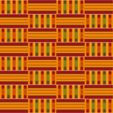 无缝非洲的模式 布料kente 部族印刷品 皇族释放例证