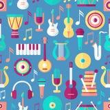 无缝音乐的模式 免版税库存照片