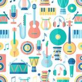 无缝音乐的模式 免版税图库摄影