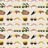 无缝食物日本的模式 库存照片