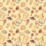 无缝食物的模式 库存图片