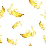 无缝香蕉的模式 免版税库存照片