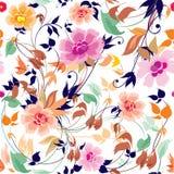无缝高雅花卉的模式 库存图片