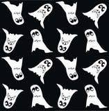 无缝鬼魂的模式 免版税库存图片
