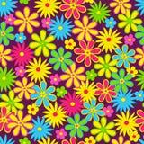 无缝,五颜六色的花的样式 图库摄影