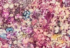 无缝,手工制造艺术五彩玻璃纹理 丙烯酸酯,水彩,墨水 免版税库存图片