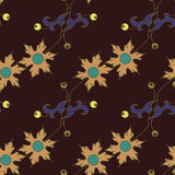 无缝黑暗的花卉的模式 库存图片