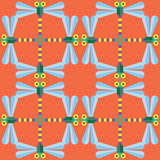 无缝蜻蜓的模式 皇族释放例证